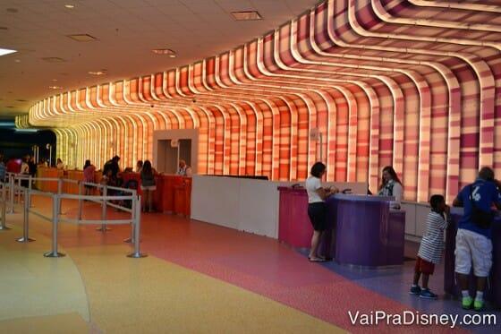 Área da recepção onde fazemos o check in.