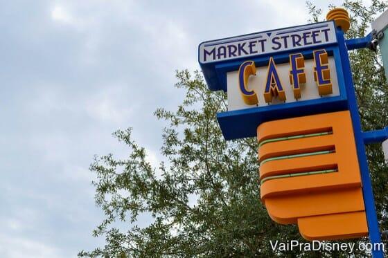 Market Street Cafe, um dos lugares que eu mais gosto em Celebration.