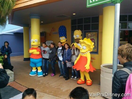 Os Simpsons também estão entre personagens da Universal muito procurados!