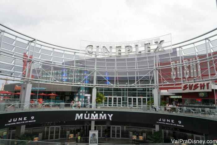 Gigante complexo de cinemas do CityWalk, mas aqui os filmes em inglês não são legendados não.
