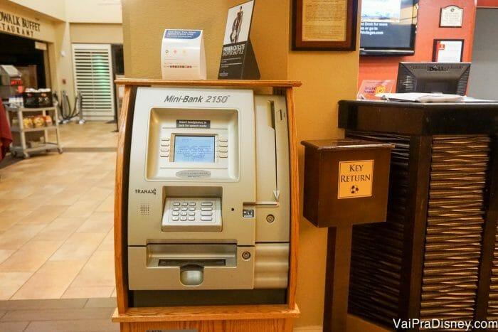 Caixa eletrônico dentro do hotel é sempre bom!
