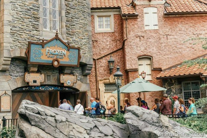 No pavilhão da Noruega fica a atração de Frozen e o encontro com as princesas Anna e Elsa