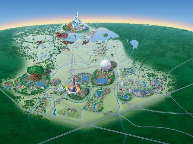 Quem olha pensa que a Disney em Orlando é só parque e hotel, mas tem muito mais escondido nesse mapa