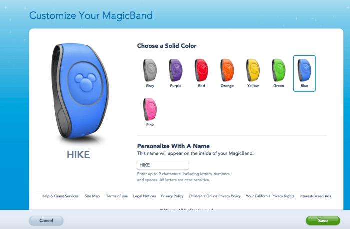Como personalizar a sua MagicBand