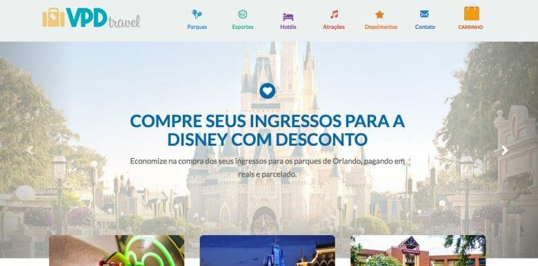 Nosso site de vendas é o VPD Travel.