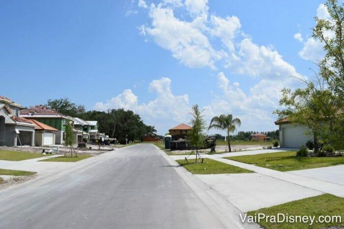 Várias casas em construção quando ficamos ali.