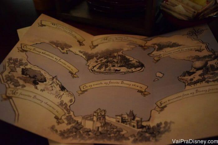 O mapinha do lado de dentro do Bon Voyage Adventure Journal!