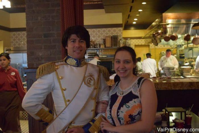 Principe Eric, da Pequena Sereia. Personagem super difícil de encontrar para fotos, agora está nesse café!