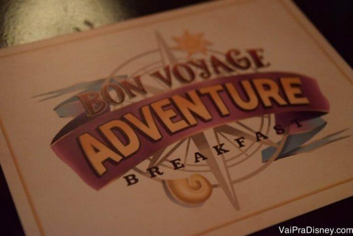O Bon Voyage Adventure Breakfast é a mais nova refeição com personagens da Disney!