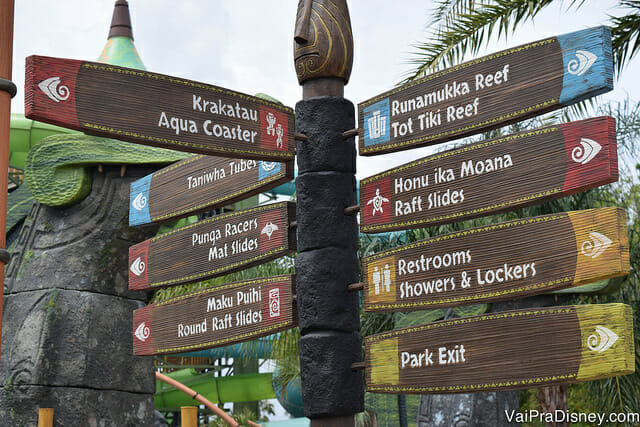 Áreas do mapa do Volcano Bay - Roteiro
