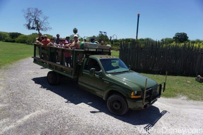 A galera toda no caminhão!