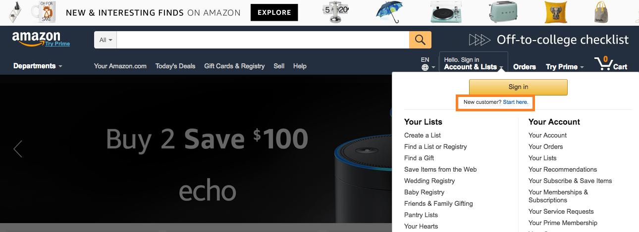 Fazendo suas compras online pela Amazon