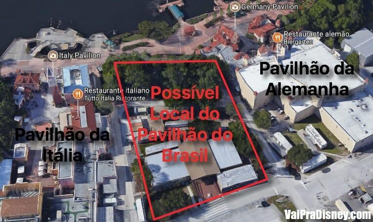 Local de onde seria o possível pavilhão do Brasil