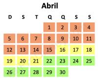 Calendário de lotação
