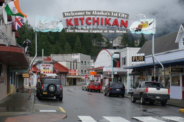 Ketchikan é uma das paradas de todos os cruzeiros da Disney no Alaska.