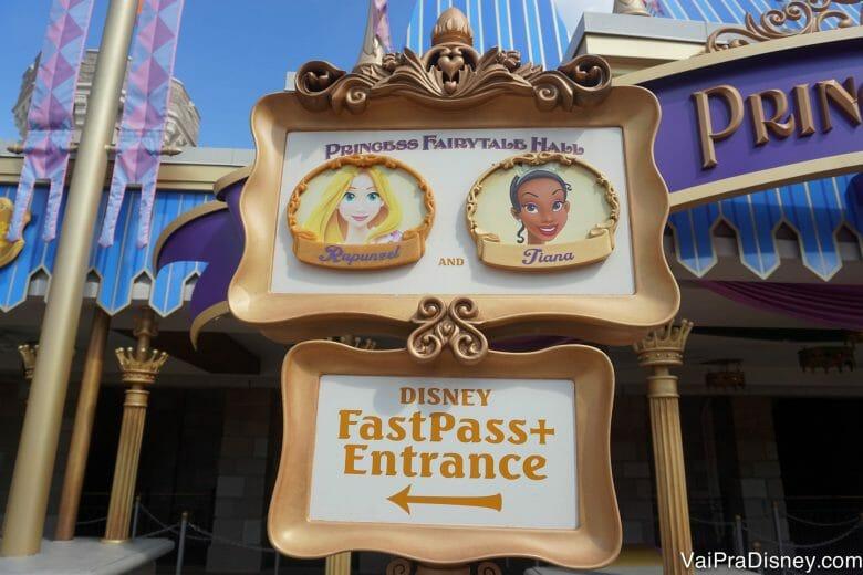 Os encontros com princesas são bem disputados no Magic Kingdom.