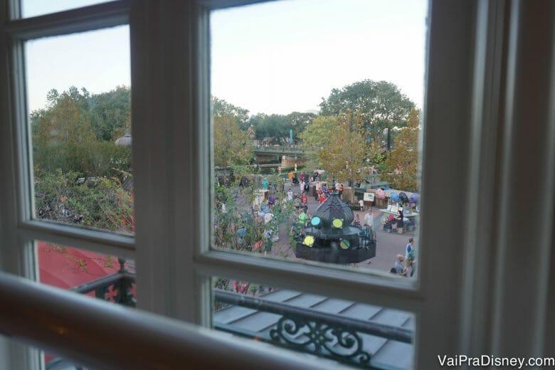 Um pouco da vista da nossa janela.