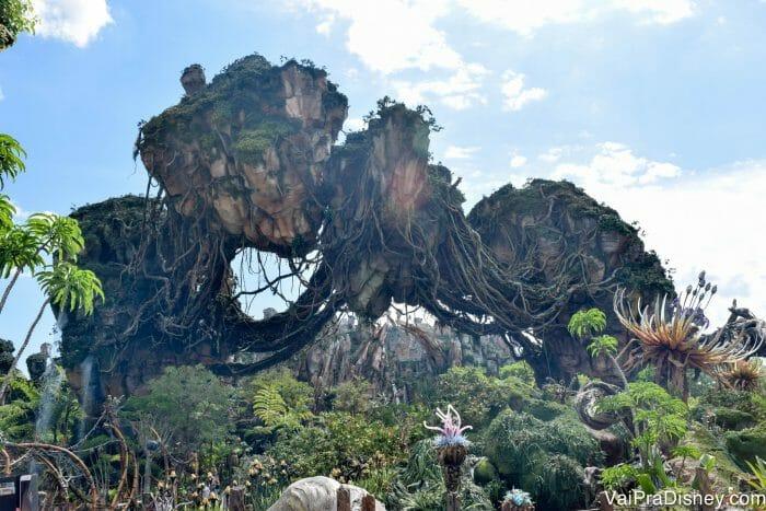 Pandora é uma parte incrível e cheia de detalhes legais do parque, mesmo pra quem não curte o filme.