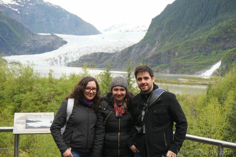 Nós na geleira, no fim da trilha!