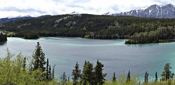 32% da beleza de Emerald Lake, mas um bom dia para descobrir que sua câmera tira fotos panorâmicas