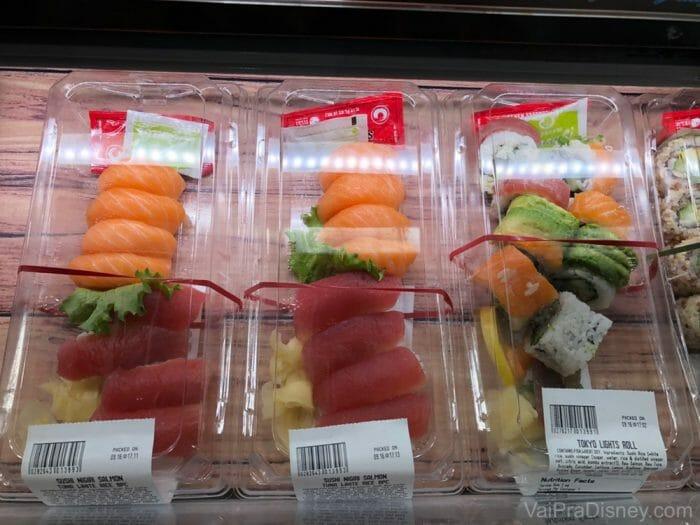 Sushi do Whole Foods: ótima qualidade e variedade