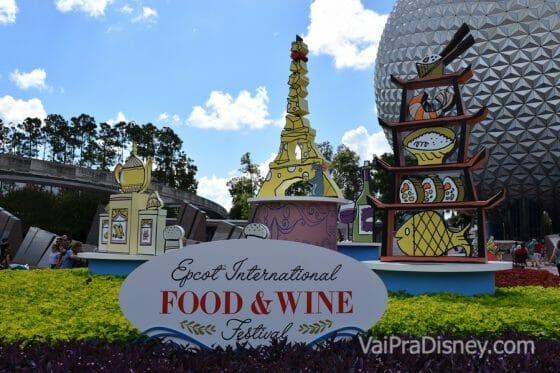 Novembro é o último mês do Food & Wine Festival no Epcot.