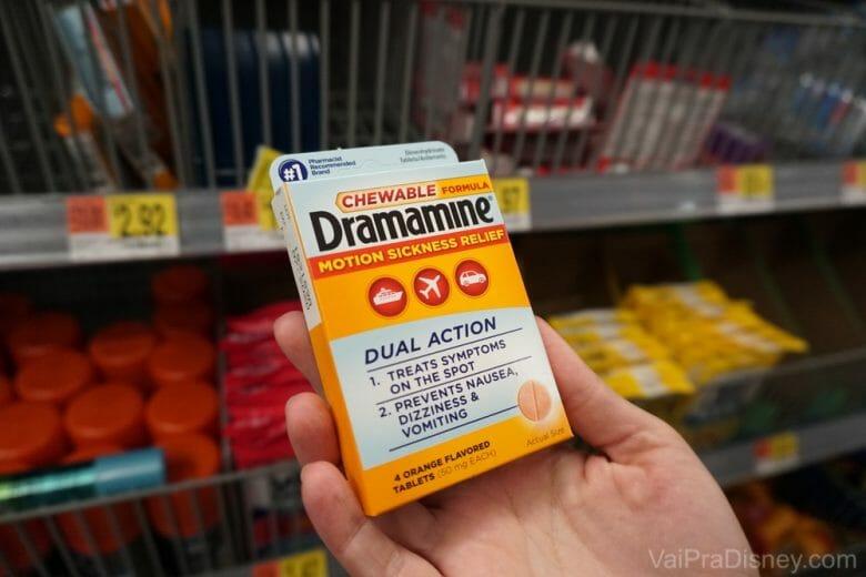 Dramin nos EUA chama Dramamine.