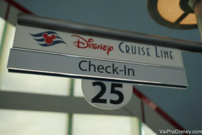 O check-in no porto é uma das últimas etapas antes de você entrar no navio!
