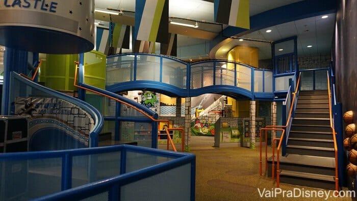 O playground infantil no Amway Center, onde acontecem os jogos da NBA em Orlando.