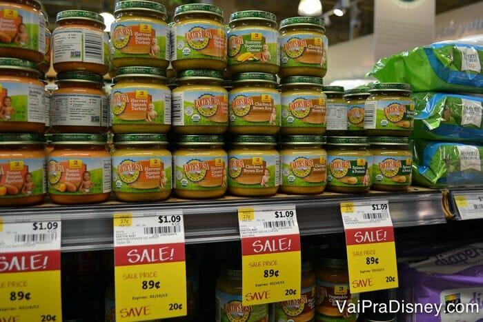 Papinhas orgânicas do Whole Foods. Você também encontra algumas na Target.