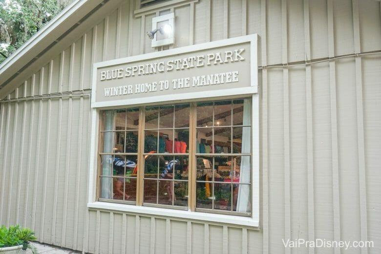 Lojinha simples, mas prática do Blue Spring State Park.