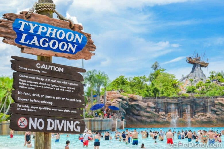 O Typhoon Lagoon é ideal para uma época quente