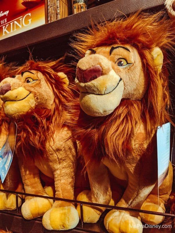 Pelúcias especiais de Rei Leão. Lindas!