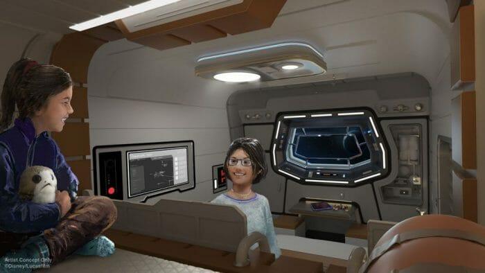 Imagem do projeto do novo hotel de Star Wars.