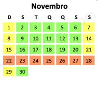 Lotação em Novembro em Orlando