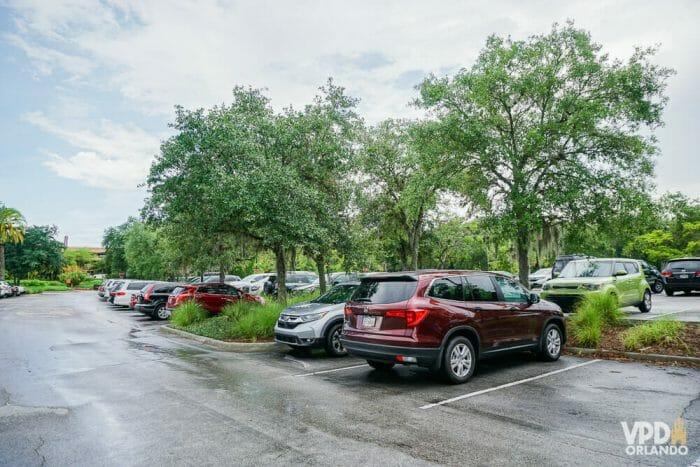 Os hóspedes da Disney não pagam estacionamento nos parques, mas pagam nos hotéis.